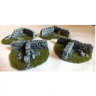 Javis Countryside Scenic Terain Pack of 4 Corners Wargame Railway Modelling